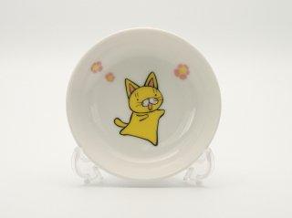 子猫とお花小皿  HY-03K
