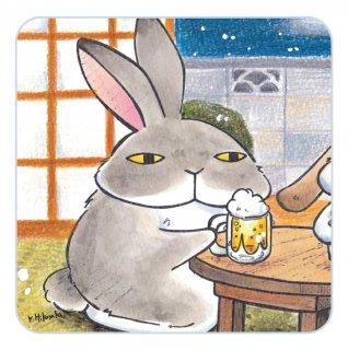 ハンドタオル【うさビール】  010-usabeer