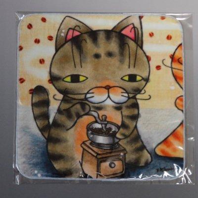 ハンドタオル【コーヒーミル】  028-coffee
