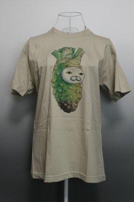 プリントTシャツ【わさび】 ストーングレー