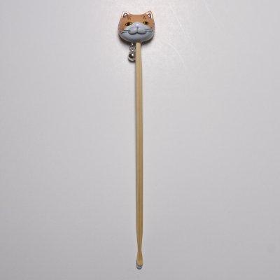 【猫 茶トラ】 耳かき