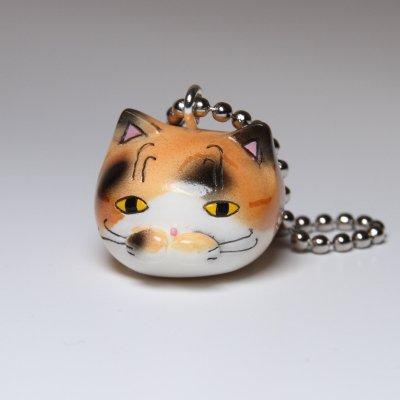 【猫 三毛猫】 ボールチェーンストラップ