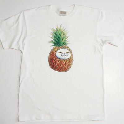 プリントTシャツ【パイナポー】 ホワイト