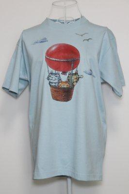 プリントTシャツ【気球】 ライトブルー