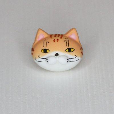 【猫 茶トラ】 バッジ・マグネット