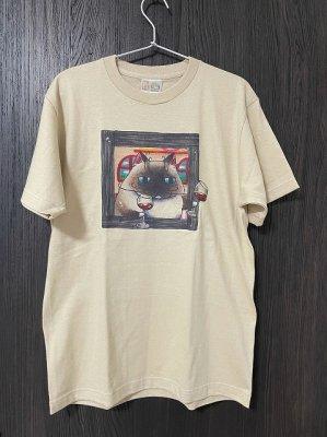 プリントTシャツ【額縁】 ストーングレー