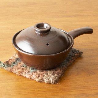 萬古の手付雑炊鍋(茶)<h3>【送料別】【発送日:2/1〜】</h3>