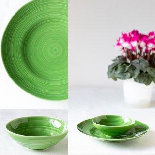 ネイチャーグリーン 丸プレート:盛皿