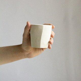 六角カップ 小(白)