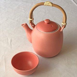 茶器セット ピンク(湯瓶:1 + 煎茶碗:2)<h3> 【送料別】</h3>