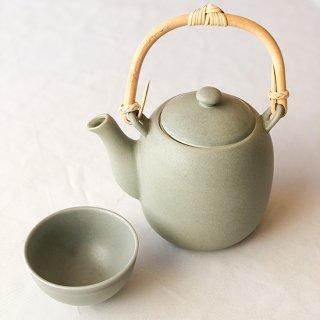 茶器セット グレー(湯瓶:1 + 煎茶碗:2)<br><h3> 【送料別】</h3>