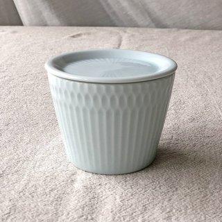 SAZANAMI-さざなみ- フタ小皿付き 猪口カップ(ブルーホワイト)