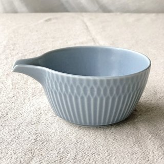 SAZANAMI -さざなみ- 片口小鉢(ブルーグレー)