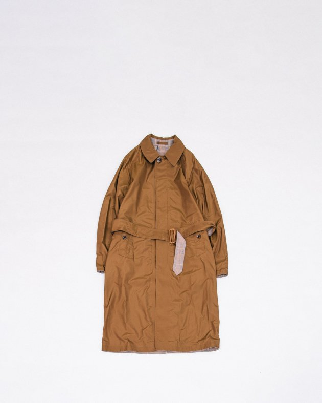 【INVERTERE】REVERSIBLE COAT / BROWN - GLEN CHECK