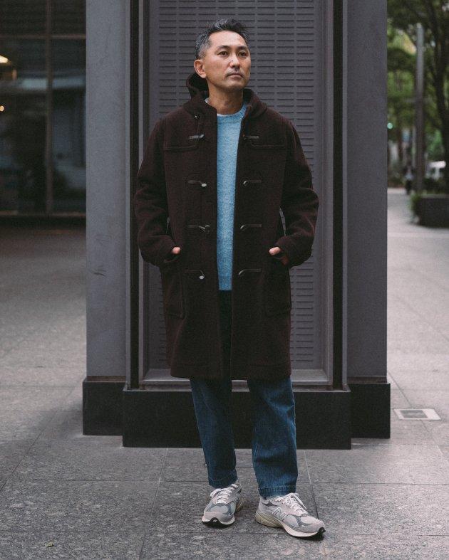 【INVERTERE】 LONG DUFFLE COAT / DK.BROWN