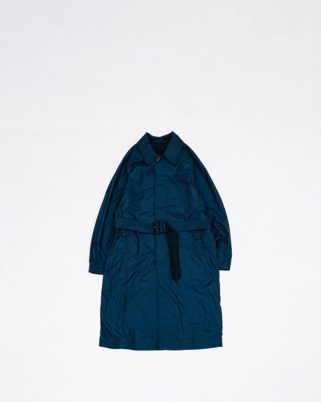 【INVERTERE】REVERSIBLE COAT / NAVY - BLACK WATCH