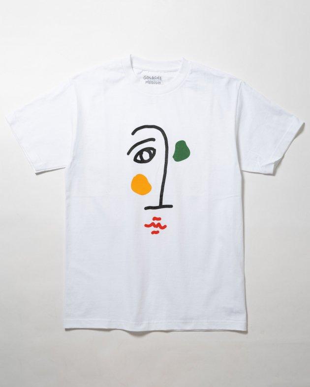 【GOUACHE ガッシュ】UNISEX ショートスリーブTシャツ「TROMBONE」 ホワイト