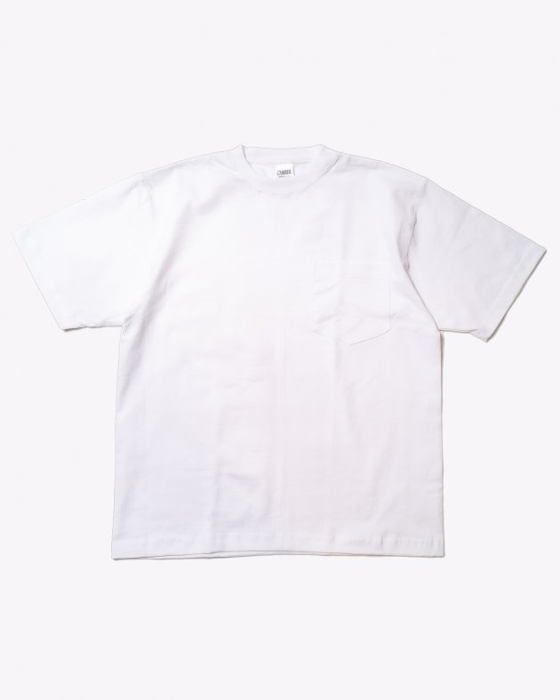【CAMBER キャンバー】Unisex Heavyweight          8oz Short sleeve Pocket T-shirt Made in the USA WHITE