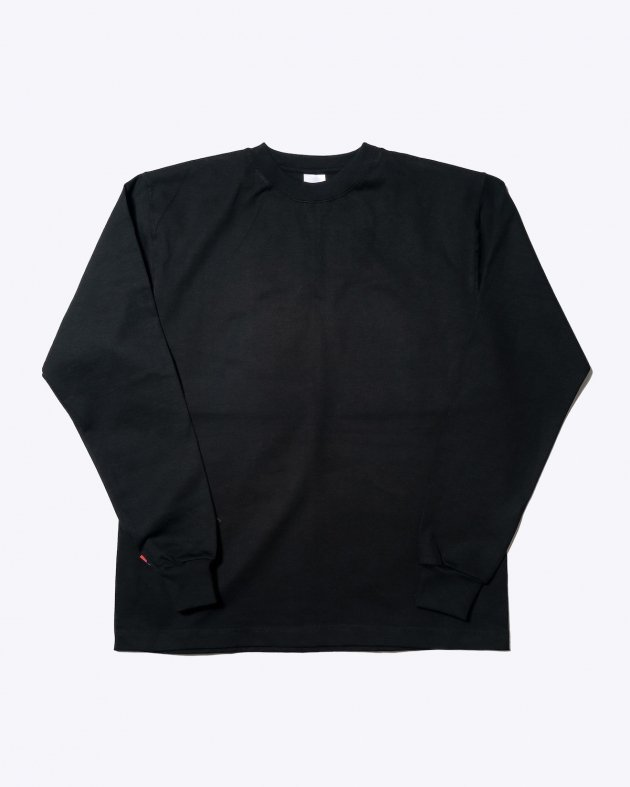 【CAMBER キャンバー】Unisex Heavyweight 8oz Long sleeve Crew neck T-shirt Made in the USA BLACK