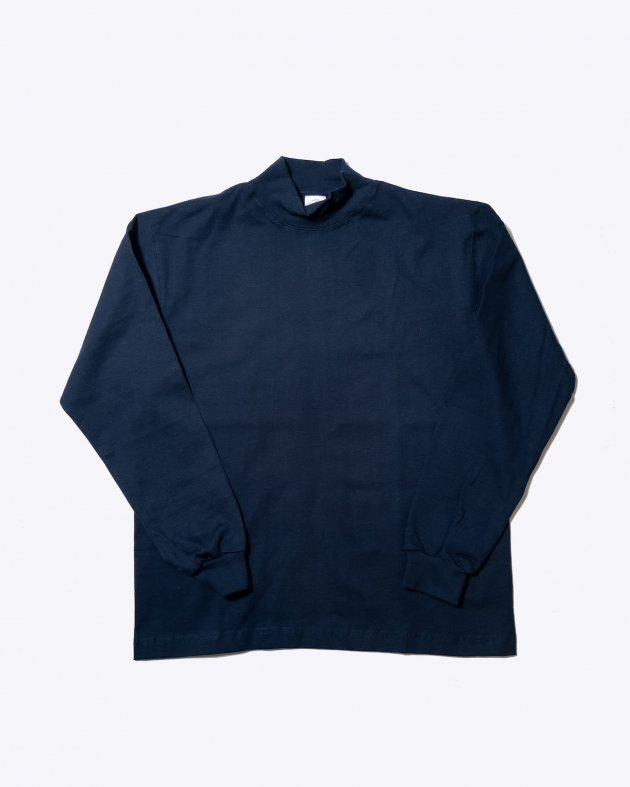 【CAMBER キャンバー】Unisex Heavyweight 8oz Long sleeve Mock Turtle T-shirt Made in the USA NAVY
