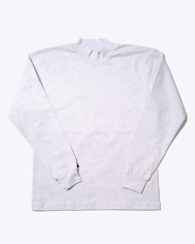 【CAMBER キャンバー】Unisex Heavyweight 8oz Long sleeve Mock Turtle T-shirt Made in the USA GREY