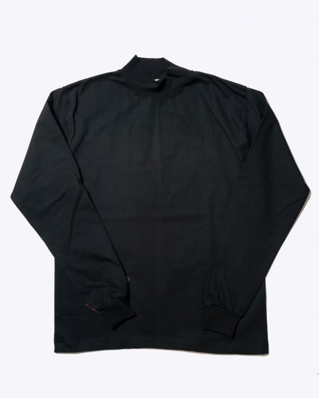 【CAMBER キャンバー】Unisex Heavyweight 8oz Long sleeve Mock Turtle T-shirt Made in the USA BLACK
