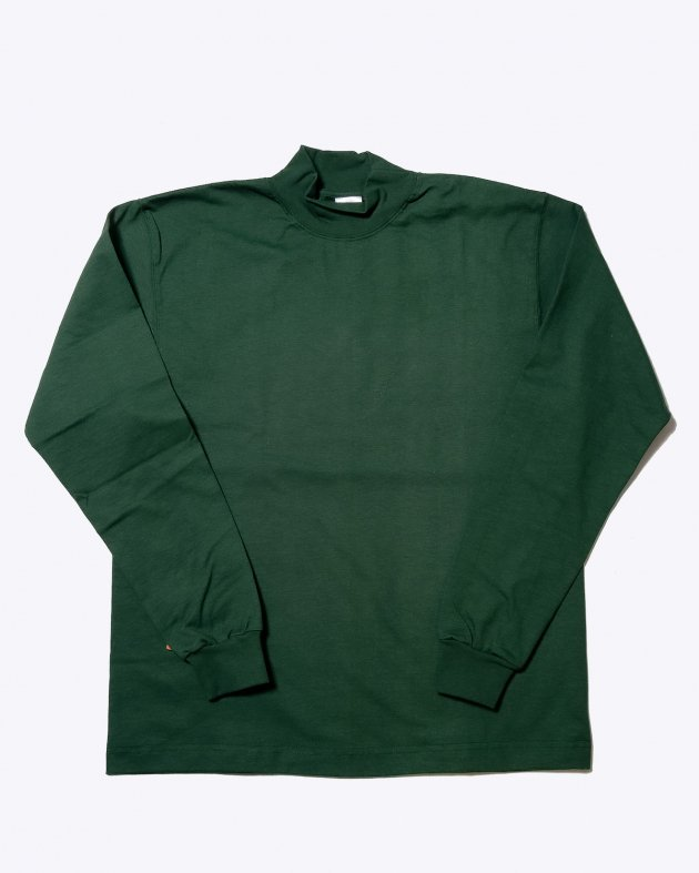 【CAMBER キャンバー】Unisex Heavyweight 8oz Long sleeve Mock Turtle T-shirt Made in the USA DARK GREEN