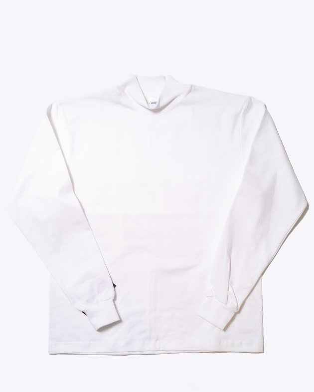 【CAMBER キャンバー】Unisex Heavyweight 8oz Long sleeve Mock Turtle T-shirt Made in the USA WHITE