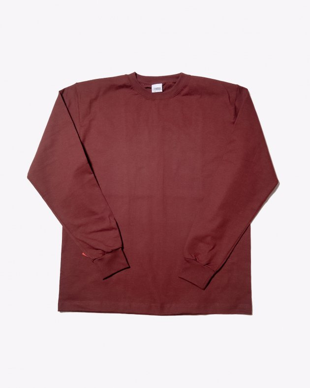 【CAMBER キャンバー】Unisex Heavyweight 8oz Long sleeve Crew neck T-shirt Made in the USA BURGUNDY