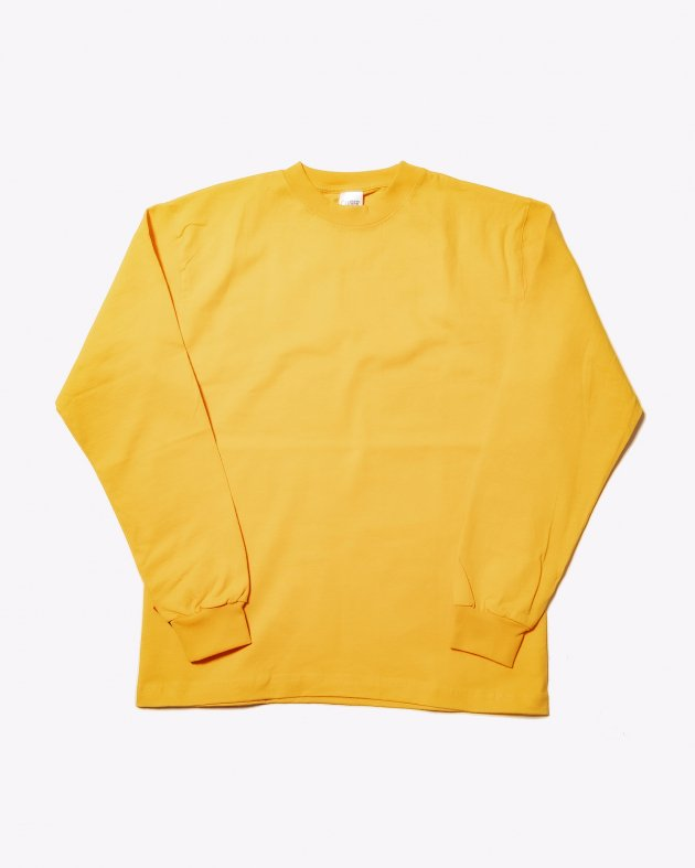 【CAMBER キャンバー】Unisex Heavyweight 8oz Long sleeve Crew neck T-shirt Made in the USA GOLD