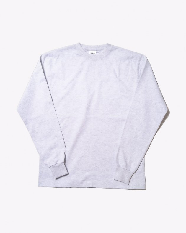 【CAMBER キャンバー】Unisex Heavyweight 8oz Long sleeve Crew neck T-shirt Made in the USA GREY