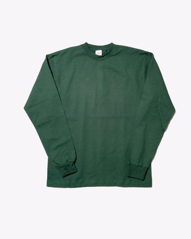 【CAMBER キャンバー】Unisex Heavyweight 8oz Long sleeve Crew neck T-shirt Made in the USA DARK GREEN