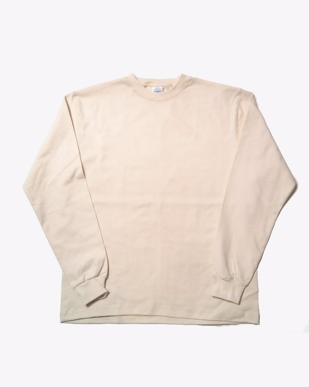 【CAMBER キャンバー】Unisex Heavyweight 8oz Long sleeve Crew neck T-shirt Made in the USA NATURAL