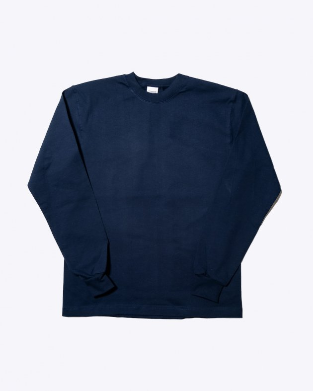 【CAMBER キャンバー】Unisex Heavyweight 8oz Long sleeve Crew neck T-shirt Made in the USA NAVY