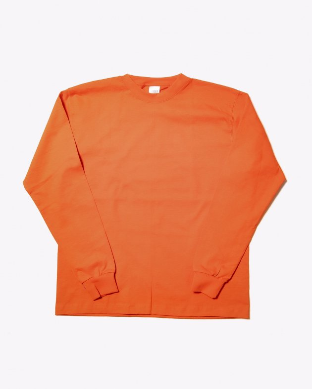 【CAMBER キャンバー】Unisex Heavyweight 8oz Long sleeve Crew neck T-shirt Made in the USA BURNT ORANGE