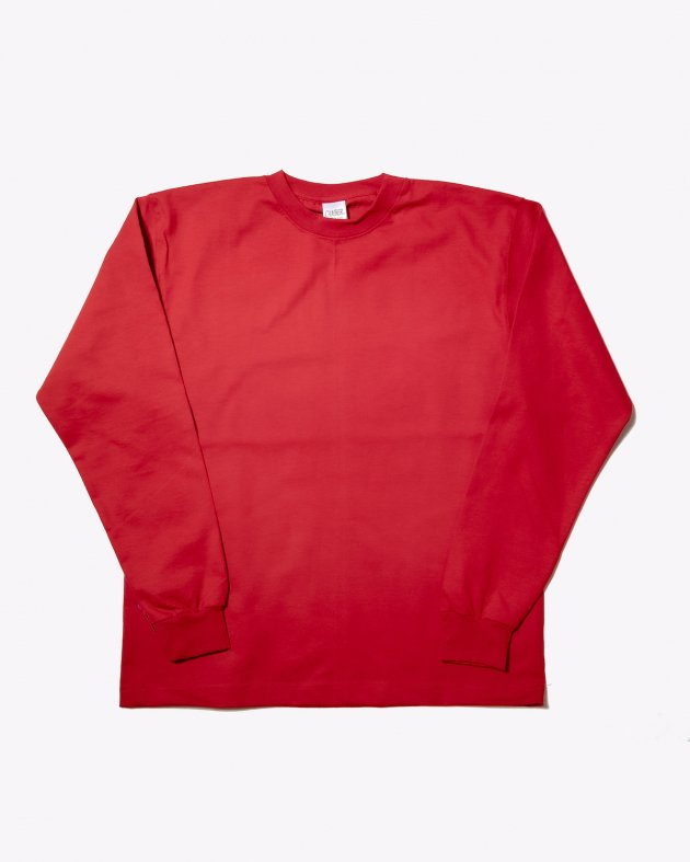 【CAMBER キャンバー】Unisex Heavyweight 8oz Long sleeve Crew neck T-shirt Made in the USA RED