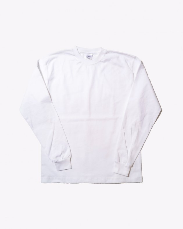 【CAMBER キャンバー】Unisex Heavyweight 8oz Long sleeve Crew neck T-shirt Made in the USA WHITE