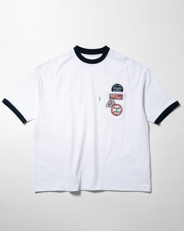 【FIDELITY フィデリティ】ユニセックス ワッペン付き ショートスリーブTシャツ