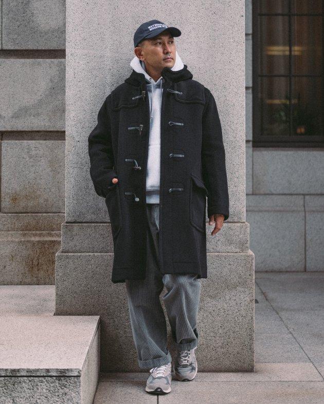 【INVERTERE】 LONG DUFFLE COAT / BLACK