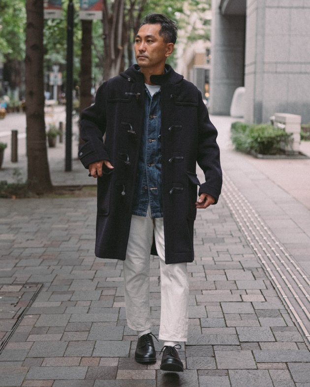 【INVERTERE】 LONG DUFFLE COAT / NAVY