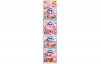 コンボ キャット 連パック子ねこ用 ミルクチップ添え140g(35g×4連)/ 日本ペットフード
