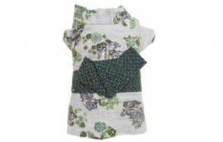 獅子柄浴衣 灰色×緑帯 2L号〜5F号/ COCO&CHOCO
