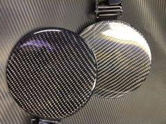 SWIFT スイフト ZC71 ZC72 ブラックカーボン加工済み 純正給油口 フューエルリッド image