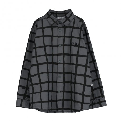 BEAU LOVES / Shirt / Grid AOP / Charcoal