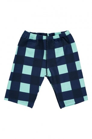 BEAU LOVES / Swim Cycle Pants / Gingham / Navy