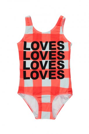 BEAU LOVES / Swimsuit / Gingham / Red