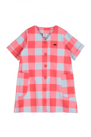 BEAU LOVES / Button Front Dress / Gingham / Red