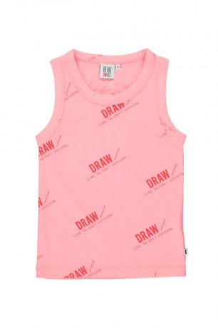 BEAU LOVES / Vest / Draw / Washed Pink