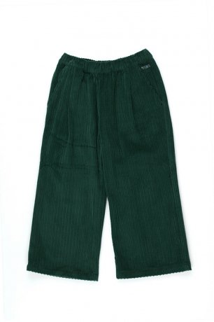 tinycottons / SOLID WIDE PANT / dark green / AW20-188