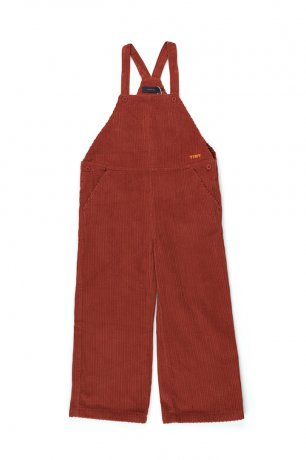 tinycottons / SOLID OVERALL / dark brown / AW20-185